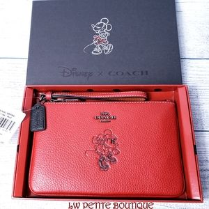 Disney x Coach Boxed Minnie Mouse Wristlet